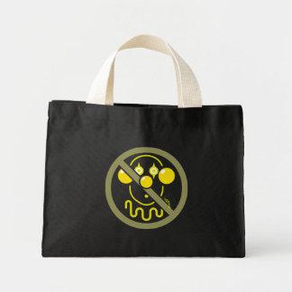 Ningunos payasos - amarillos limón bolsa tela pequeña