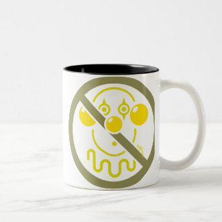 Ningunos payasos - amarillos limón taza dos tonos