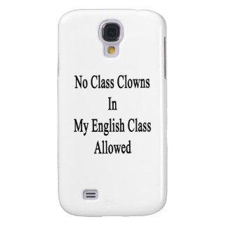 Ningunos payasos de clase en mi clase de inglés