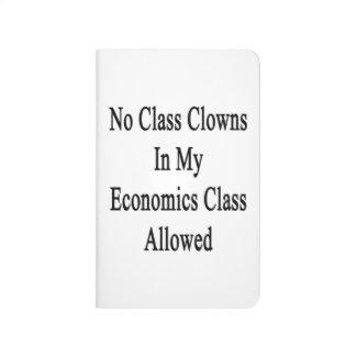Ningunos payasos de clase en mi clase de la cuaderno grapado
