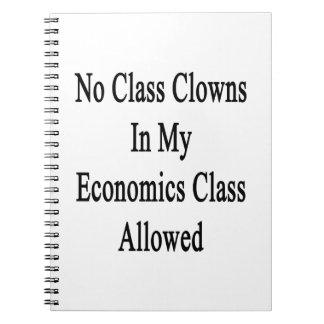 Ningunos payasos de clase en mi clase de la libreta