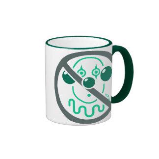 Ningunos payasos - verde de menta taza a dos colores