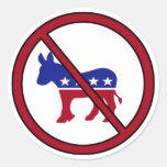 Ningunos pegatinas de Demócratas Etiquetas Redondas