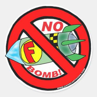 NINGUNOS PEGATINAS DE F-BOMB PEGATINA REDONDA