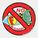 NINGUNOS PEGATINAS DE F-BOMB PEGATINAS REDONDAS