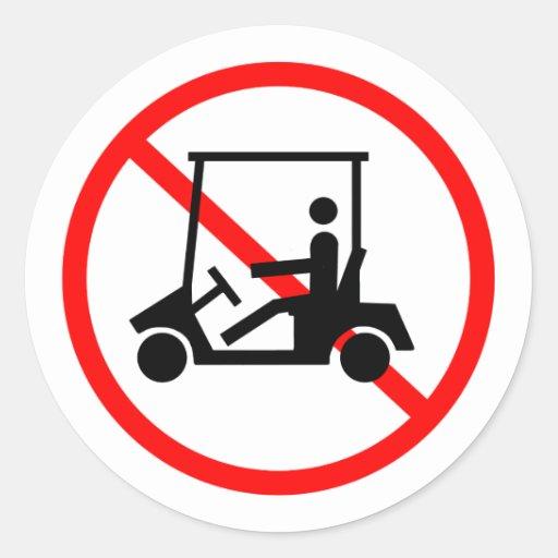 Ningunos pegatinas de los carros de golf