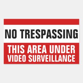 Ningunos pegatinas video de violación de la pegatina rectangular