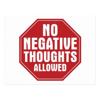 Ningunos pensamientos negativos permitidos postales