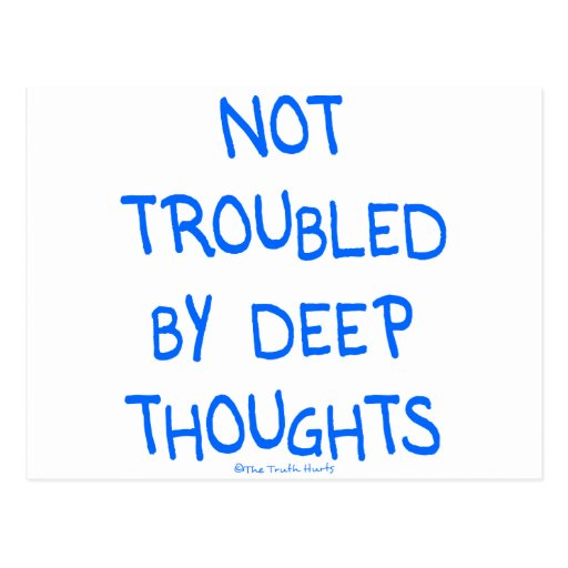 Ningunos pensamientos profundos postales