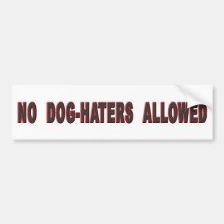 Ningunos Perro-Enemigos permitidos Pegatina Para Auto