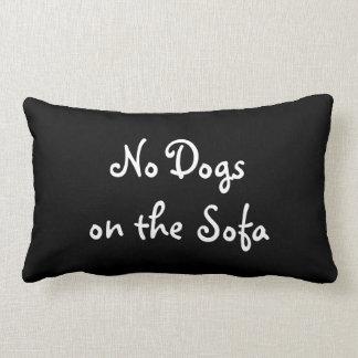Ningunos perros en la almohada del sofá