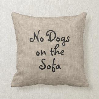 Ningunos perros en la almohada del sofá cojín decorativo