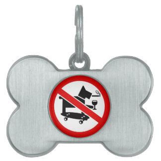 Ningunos perros impresionantes placa mascota