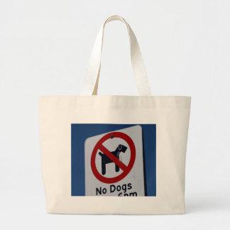Ningunos perros permitidos bolsas de mano
