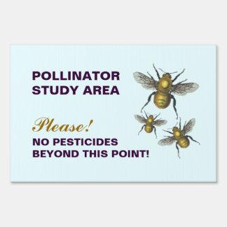 ¡Ningunos pesticidas más allá de este punto! Letreros