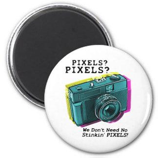 Ningunos pixeles de Stinkin Imán Redondo 5 Cm