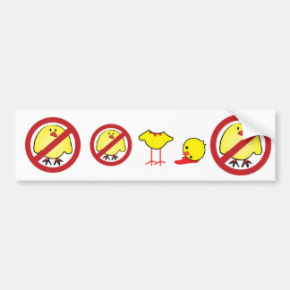 ¡Ningunos polluelos gordos! Pegatina Para Auto