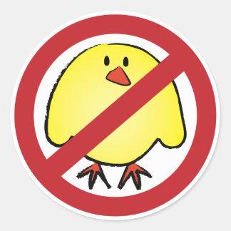 ¡Ningunos polluelos gordos! Pegatina Redonda