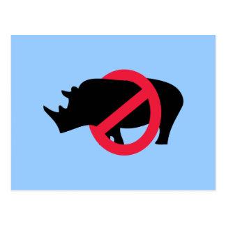 Ningunos Rhinos - tipo de Rino Tarjeta Postal