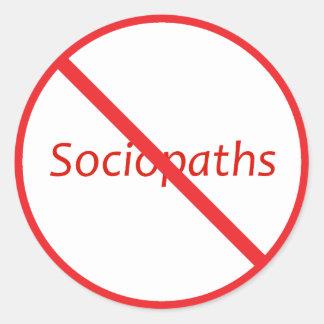 ¡Ningunos Sociopaths! Pegatina Redonda