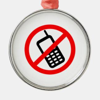 Ningunos teléfonos celulares ornamento de navidad