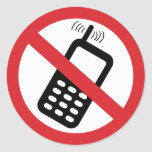 Ningunos teléfonos celulares pegatinas redondas