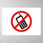 Ningunos teléfonos celulares poster