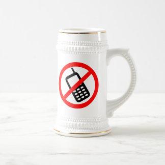 Ningunos teléfonos celulares tazas de café