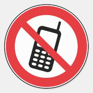 Ningunos teléfonos móviles de los teléfonos pegatina redonda