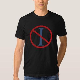Ningunos titulares - camiseta negra playera