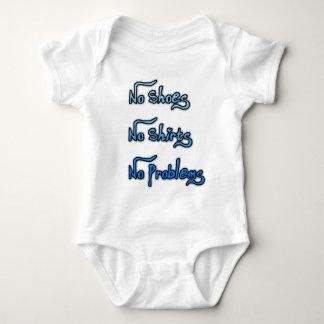 Ningunos zapatos o camisa, ningunos problemas body para bebé
