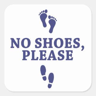 Ningunos zapatos satisfacen, con el pegatina de