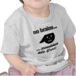 Ningunos zombis de los cerebros… los comieron… (la camisetas