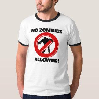 Ningunos zombis permitidos remeras