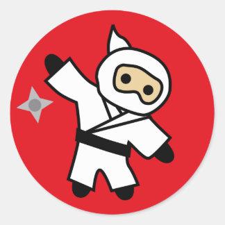 ninja 5 classic round sticker