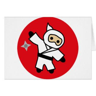 ninja 5 greeting card