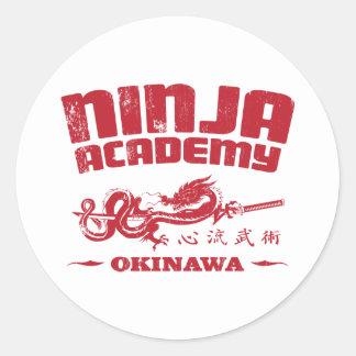 Ninja Academy Okinawa Kill Bill Classic Round Sticker