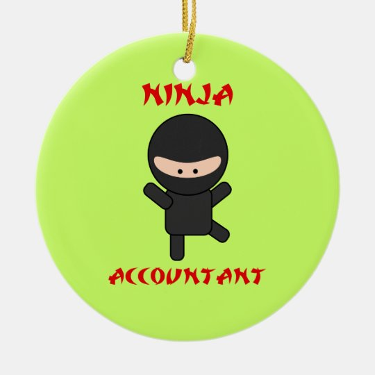 Ninja Accountant Ceramic Ornament