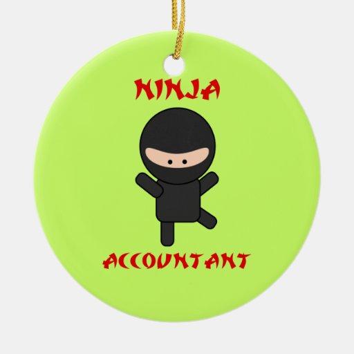 Ninja Accountant Christmas Tree Ornaments
