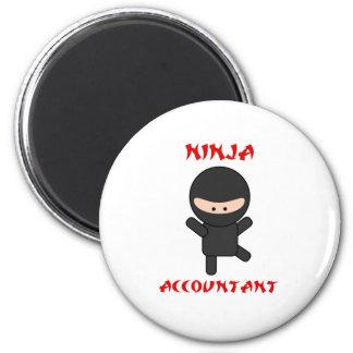 Ninja Accountant Refrigerator Magnet