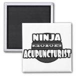 Ninja Acupuncturist Fridge Magnets