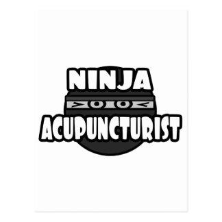 Ninja Acupuncturist Post Card