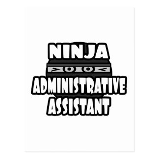 Ninja Administrative Assistant Post Cards