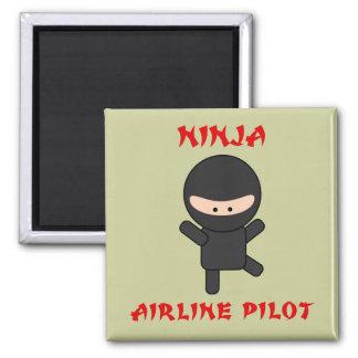 ninja airline pilot magnet