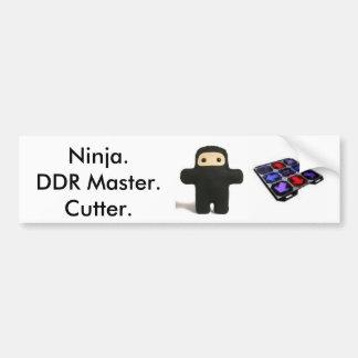 Ninja, amo de RDA y tope del cortador (de los Spec Pegatina Para Auto