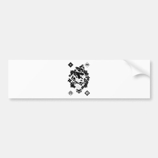 Ninja and snake and the hand reverse side sword Ja Bumper Sticker