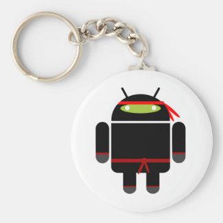 Ninja androide llavero redondo tipo pin