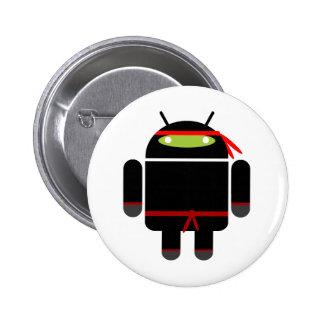 Ninja androide pin redondo de 2 pulgadas