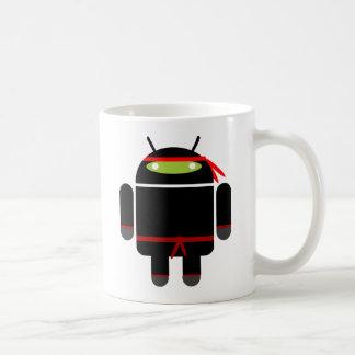 Ninja androide tazas de café