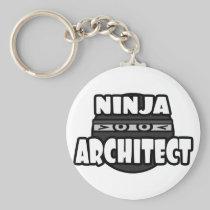 Ninja Architect Basic Round Button Keychain